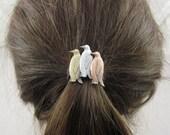Penguin Ponytail Holder- Penguin Lovers Gift- Hair Accessories- Ponytail Holder
