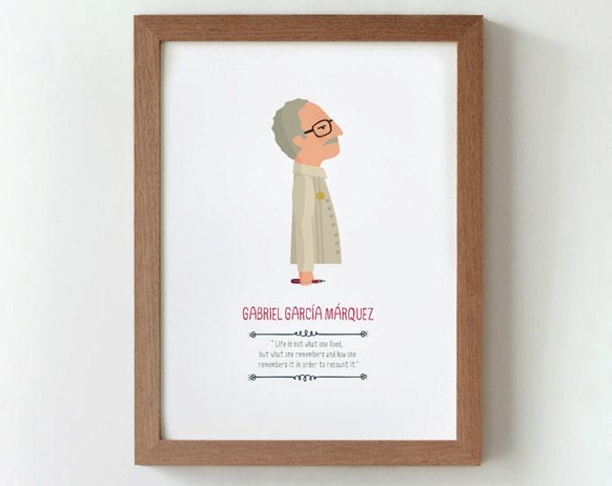 """Ilustración """"Gabriel García Márquez""""."""