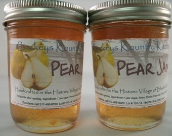 Two Jars Pear Jam Homemade by Beckeys Kountyry Kitchen jam jelly preserves fruit spread