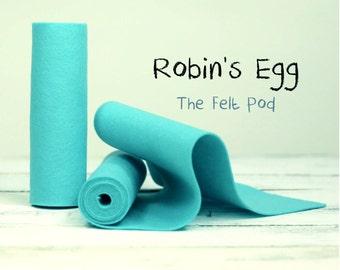 "100 Percent Wool Felt Roll - Wool Felt color ROBIN'S EGG - 5"" X 36"" Wool Felt - 100% Wool Felt"