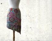 Sale, size S, Mini Flower purple chaos skirt, Boho, Solmode, hippie skirt, flower skirt, fairy skirt