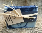 Charcoal and Tea Tree Acne Reducing Facial Soap. Cold Processed. Handmade. Small Batch.  Normal to Oily Skin