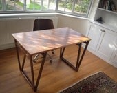 LAPTOP DESK, Beech Plywood Laptop Desk. Made from Marine grade European Beech Plywood, Very durable. With rustic V Legs, Home Furniture