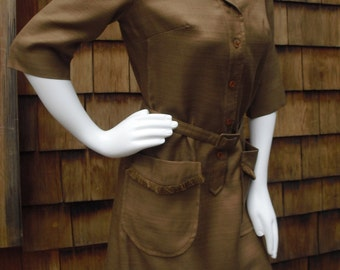 Vintage Shirt Dresses Inc. Rayon/Silk Dress New With Tags Size 8