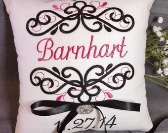 Ring Bearer Pillow, Personalized ring bearer pillow, monogram ring pillow, custom ring pillow, wedding pillow, bridal pillow, Mr Mr pillow