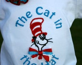 Ari's Angels girls Cat in the Hat Applique Shirt