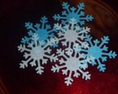 25 Edible Wafer Snowflakes