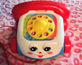 Vintage Children's Fisher Price Pull Toy Telephone