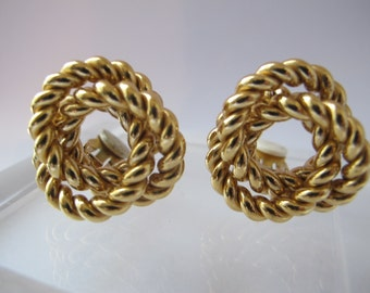 Givenchy gold tone rope knots clip earrings designer for High design jewelry nyc