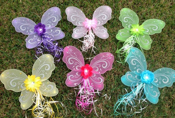 10 Tinkerbell Fairy Wings, Fairy Party Favors, Princess Wings, Tinkerbell Party, Fairy Dress Up, Fairy Costume Wings