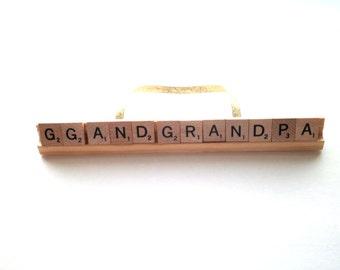 CUSTOM Long Scrabble Ornament, Extra Large Ornament, Childs Name Decoration, Large Scrabble Ornament, Custom Family Name Gift, Word Art Gift