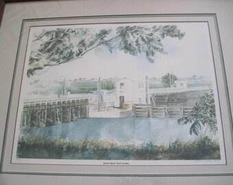 Historic, Pontoon Swing Bridge, Sunset Beach, Calabash, Cynthia Hiatt Poole, East Coast Last Pontoon Swing Bridge, North Carolina