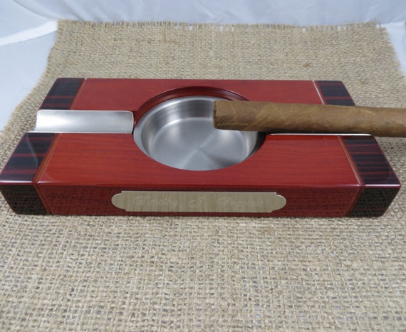 Personalized Cigar Ash Tray - Gifts for Men - Grandfather Gift - Christmas Gift