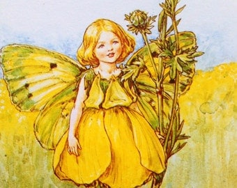 1930s BUTTERCUP FAIRY Cicely Mary Barker PRINT Ideal for Framing