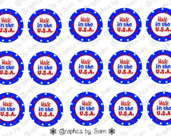 """1"""" DIGITAL Bottle Cap IMAGES -Made in the USA- For Use On Finished Products & For Precut sale"""