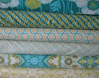 Half Yard Bundle of 5 Notting Hill fabrics by Joel Dewberry for Free Spirit Fabrics 2.5 yards total