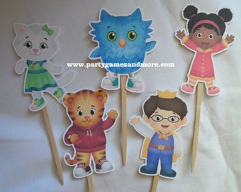 Daniel Tiger's Neighborhood Birthday Party Favor Cupcake Toppers, Candy Labels, Party Favor Tags