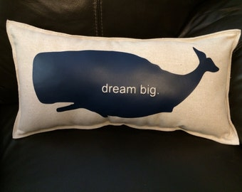 Whale Accent Pillow