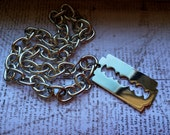 Salander Razor Blade Necklace - Inspired by the Girl with the Dragon Tattoo