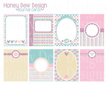 Instant Download - Journal Cards 004
