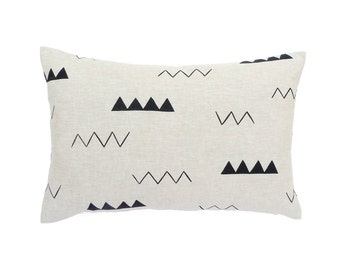 Linen Zig Zag Linen Pillow - 20 x 14 in.