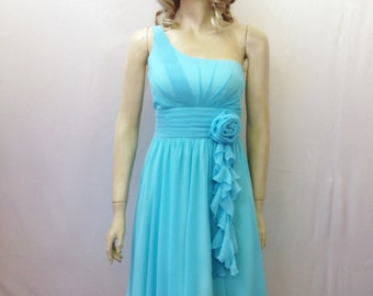 One Shoulder Dress. Bridesmaid Dress