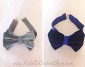 Velour Bow Ties - Grey Velour Bow Tie - Black Velour Bow Tie - Boys Bow Ties - Adult Bow Ties - Fashion Bow Ties - Holiday Bow Ties