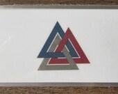 Elder Futhark Rune Cards; Pocket Size Valknut Design
