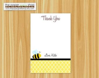 Bumble Bee Thank You Card | Bumble Bee Bridal Shower | Bee Thank You Card | Bee Bridal Shower