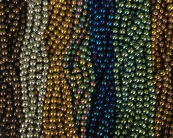 10mm hematite round beads , around 43 beads