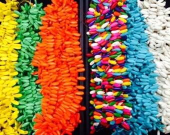 Side drilled howlite teardrop beads, 9x24mm 90beads
