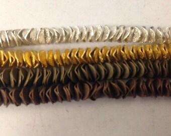 copper spacers, wavy disc, 6mm, 100pcs