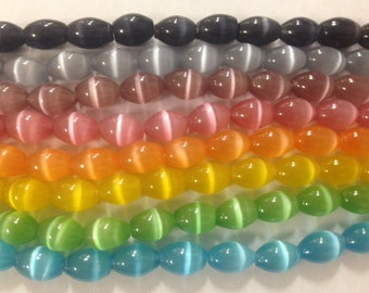 10x14mm glass barrel beads with shiny coating, 28beads