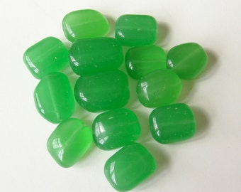 Green agate stone beads