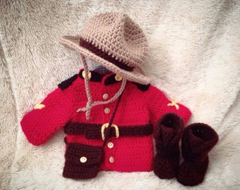 Newborn RCMP outfit photo prop