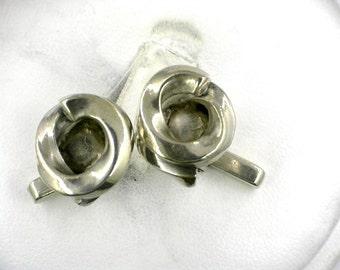 Vintage sterling silver cufflinks