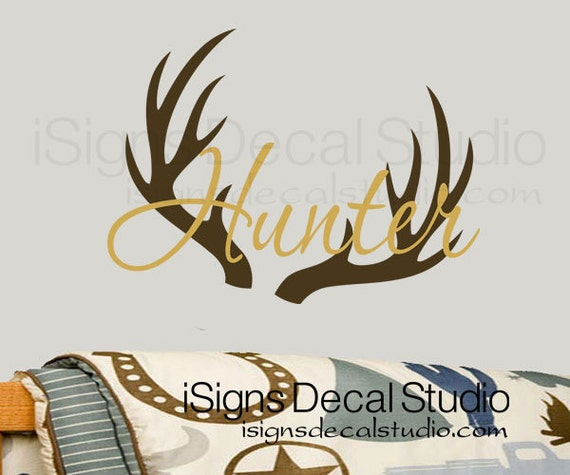 Hunting wall decal deer buck hunting nursery for Hunting wall decals