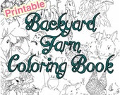 Backyard Farm Coloring Book 10 pages featuring hand-drawn illustrations