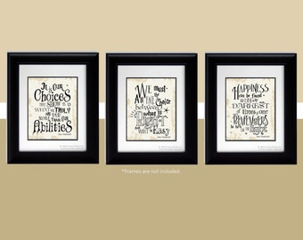 Harry Potter Gift Albus Dumbledore Quotes Harry Potter Poster Happiness Can Be Found Harry Potter Nursery Christmas Gift Stocking Stuffer