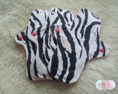 Zebra Cotton Flannel Pads - Custom Mama Cloth - Menstrual Pads - Reusable Cotton Pads - Made to Order