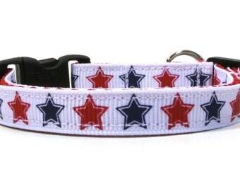 Patriotic Stars Breakaway Cat Collar