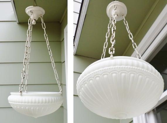 Antique Art Deco Chandelier Light Pendant Light Glass