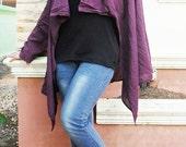 Jecket /  Women Blouse / Women Top /Sexy....Lady  Violet cotton shirt