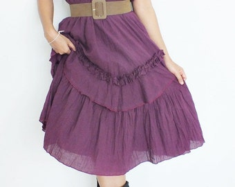 Sweet Violet Dress Layer... MAxi Dress Cotton Wedding dress plus size dress