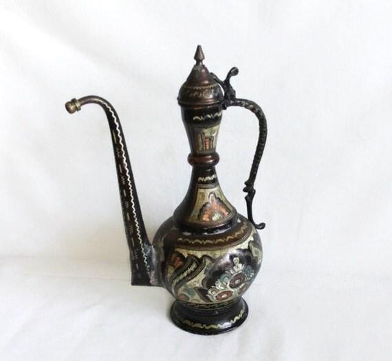 Ibrik Ewer PITCHER Oriental Home Decor VINTAGE Copper