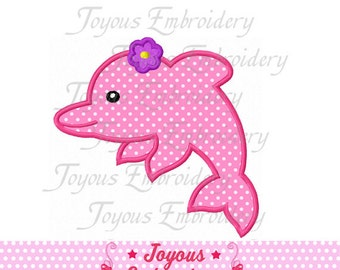 Instant Download Girl Dolphin Applique Machine Embroidery Design NO:1494