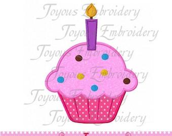 Instant Download Birthday Cake Applique Machine Embroidery Design NO:1511