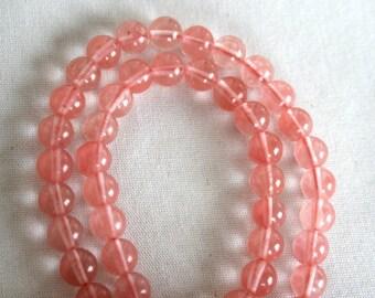 8 mm  Cherry Quartz Round Beads