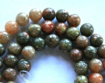 6 mm Sunset Jasper Semi Precious Gemstone Round Beads