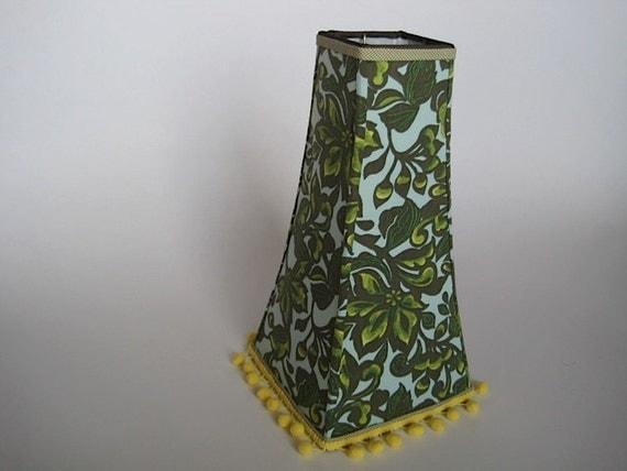 Green Floral Lamp Shade : Lamp shades tall green yellow floral shade by elledaniel